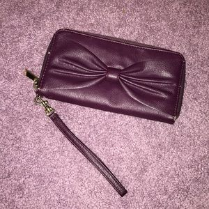 Purple Wristlet with Bow